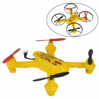 Brilink BH07 Mini 2.4G Radio Control 4-CH Quadcopter R/C Aircraft 3D Tumbling w/6-Axis Gyro - Yellow