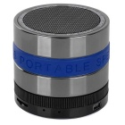 BT Portable 3W Bluetooth V2.1 Speaker w/ FM / TF / Microphone / Micro USB - Black + Silver + Blue