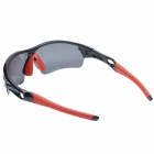 T-Rex BP-6192 Outdoor Cycling Polarized UV400 Protection Resin Frame PC Lens Sunglasses - Black