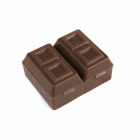 Chocolate-Type Sharpener w/ Eraser - Chocolate