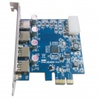 WBTUO LT - 109 PCI - Express til USB 3.0 -kort (NEC chip) utvidelseskort for Desktop - Blå