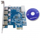 WBTUO LT-109 PCI-Express to USB 3.0 Card (NEC chip) Expansion Card for Desktop - Blue