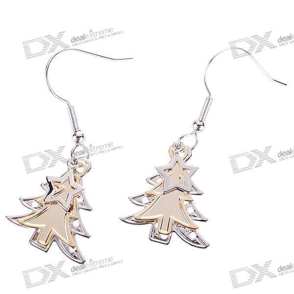 Alloy Christmas Tree Earrings (Pair)
