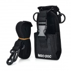 Universal Multifunctional Nylon Adjustable Shoulder Strap Waist Bag for Walkie Talkie - Black