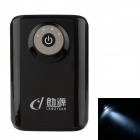 "LANGYUAN Dual USB Output ""8400mAh"" Mobile Power Bank w/ LED Light for Samsung / HTC / Nokia - Black"