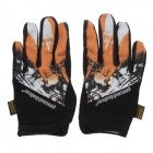 Mad Bike SK-10 Outdoor Sport Anti-slip Bike Cycling Full-finger Gloves - Orange + Black (Size-M)
