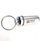 ZHISHUNJIA NHX-006 Outdoor Aluminum Alloy Hanging Pill / Matches Bottle Case w/ Keyring - Silver