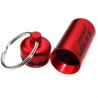 ZHISHUNJIA NHX-006 Outdoor Aluminum Alloy Hanging Pill / Matches Bottle Case w/ Keyring - Red