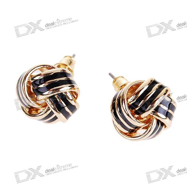 Alloy Charming Ball Ear Pin Earrings (Pair)
