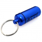 ZHISHUNJIA NHX-006 Outdoor Aluminum Alloy Hanging Pill / Matches Bottle Case w/ Keyring - Blue