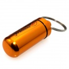 ZHISHUNJIA NHX-006 Outdoor Aluminum Alloy Hanging Pill / Matches Bottle Case w/ Keyring - Golden