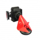 2250-AM 360' Rotation Car Mount Suction Cup Holder for Cell Phone - Black + Red