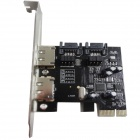 WBTUO LT-107 2 SATA 3.0 & 2 ESATA 3.0 2 Ports PCI-E Express Card Adapter Expansion Card - Black