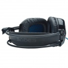 SADES A30 Xpower Headphone 7.1-Channel w/ Microphone + Volume Controller - Black + Blue