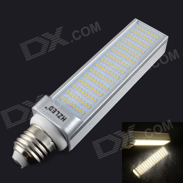 HZLED E27 12W 1200lm 3000K 120 x SMD 3014 LED Warm White Light Lamp - White + Silver (AC 85~265V) hzled e27 9w 810lm 6000k 96 x smd 3014 led white light lamp bulb white silver ac 85 265v