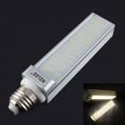 HZLED E27 12W 1200lm 3000K 120 x SMD 3014 LED Warm White Light Lamp - White + Silver (AC 85~265V)