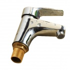 Stylish Single-hole Copper Faucet - Silver