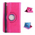 Lichee Pattern 360' Rotation PU Leather Case Stand for Samsung Galaxy Tab Pro T320 8.4 - Deep Pink