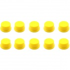Jtron Tact Switch Round Cap - Yellow (10 PCS / 12 x 12mm)