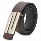 "ZEA-3-7-1P ""S"" Style Buckle Artificial Leather Belt for Men / Women - Dark Brown"