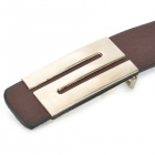 """S"" Style Buckle Artificial Leather Belt for Men / Women - Dark Brown"