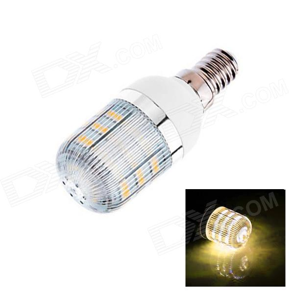E14 3W 160lm 3000K 48 x SMD 3528 LED Warm White Light Corn Lamp Bulb - (AC 220~240V) gc e14 3w 170lm 3000k 64 3014 smd led warm white light corn bulb ac 90 240v