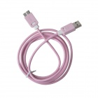 KS-318 USB 3.0 Male to Micro-B Male Data Sync / Charging Cable for Samsung Galaxy Note 3 - Pink