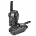 Beier 668 1.3'' LCD 0.5W 4.5V 22-Channel Walkie Talkie Set for Children - Black (2 PCS)