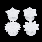 Zinuo ZN2026 DIY Flower Style Cookies Fondant Cutter Molds - White (4 PCS)
