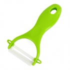 MS-99 Convenient Durable Ceramics Fruit Knife Peeler - Green + White