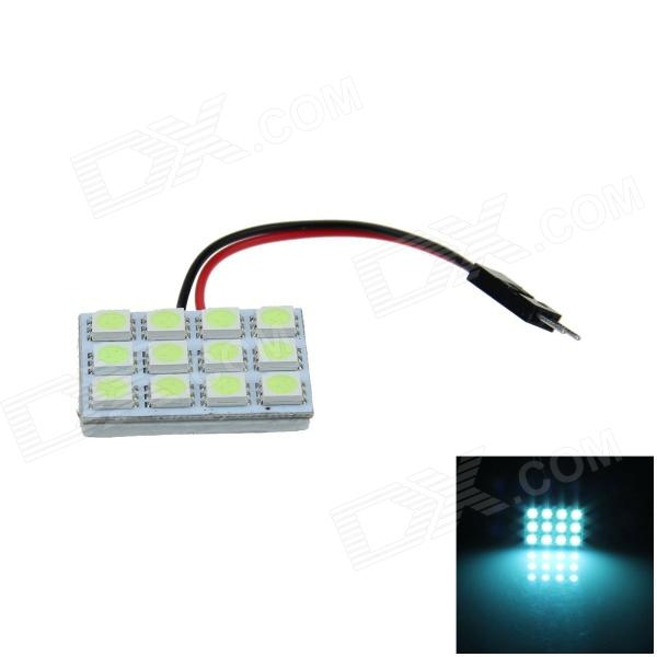 T10 / BA9S / Festoon 2W 100lm 12 x SMD 5050 LED Ice Blue Car Reading Light / Panel Light - (12V)