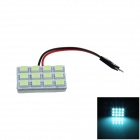 T10 / BA9S / Festoon 2W 100lm 12 x LED SMD 5050 Ice Blue Car Light Reading / Painel Light - (12V)