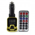"1.1"" LCD Wireless FM Transmitting Car MP3 Player w/ TF / USB / SD + Remote Control - Golden + Black"