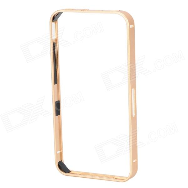 S-What Protective Aluminum Alloy Bumper Frame Case for IPHONE 4 / 4S - Golden s what ultrathin protective aluminum alloy bumper frame for iphone 4 4s black