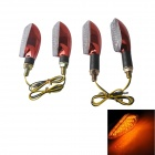 JLT-020 Waterproof 2W 112lm 15-LED Yellow Light Motorcycle Turn Signals Light - (12V / 4 PCS)