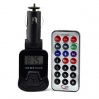 "1.1 ""LCD Wireless FM Sende bil mp3-spiller m / TF / USB / SD + Fjernkontroll - Sort"