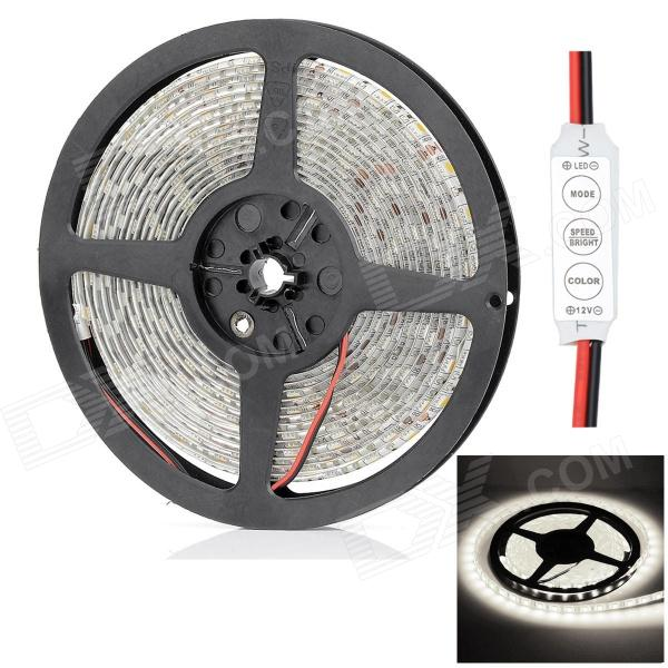 HML Waterproof 72W 6300lm 300 x SMD 5050 LED White Light Strip w/ Mini Controller - (5M / 12V) цена