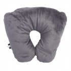 3-in-1 Multifunction U-Shape Car Travel Neck Pillow / IPAD Holder Pillow - Grey