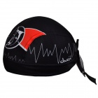 CHEJI Cycling Polyester Head Scarf Hat - Black + Red