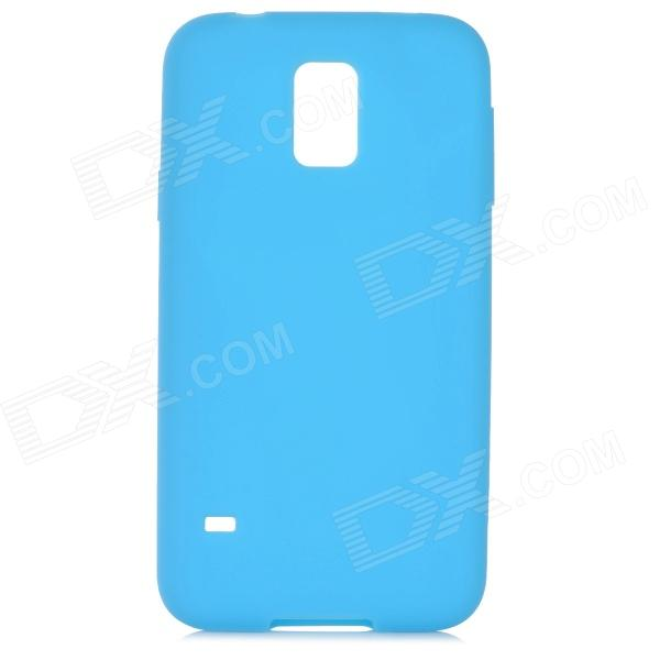 Protective Silicone Back Case for Samsung Galaxy S5 - Blue