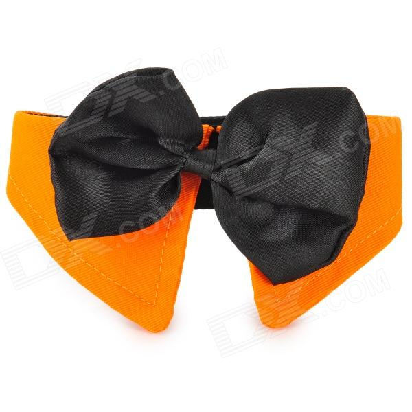 Doglemi DM10046 Stylish Bow Tie for Dog Cat Pet - Black + Orange (Size L)