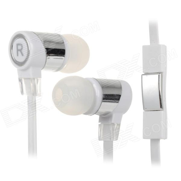 Universal Bass In-Ear Earphones w/ Microphone / Cable Control / Stylus Pen & Anti-Dust Plug