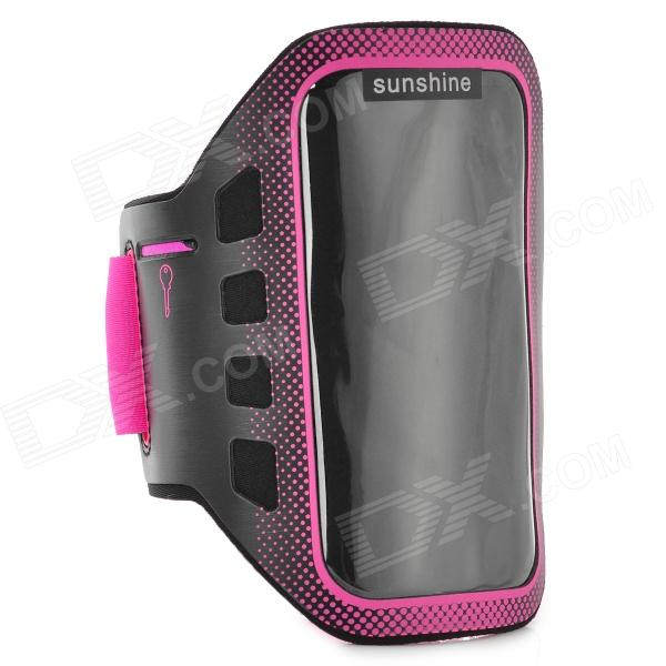 Sunshine Sports Gym PVC + Neoprene Armband Case for MOTO G DVX - Deep Pink + Black sunshine sports gym neoprene armband case for moto g dvx black silver