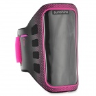 Sunshine Sports Gym PVC + Neoprene Armband Case for MOTO G DVX - Deep Pink + Black