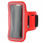 Sports Gym PU Leather Armband Case for HTC One X / M7 / Samsung S5 - Red + Black