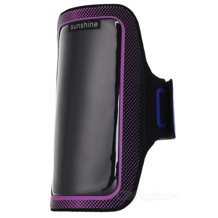 Sunshine Sports Gym PVC + Neoprene Armband Case for MOTO G DVX - Purple + Black sunshine sports gym neoprene armband case for moto g dvx black silver