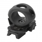 Helmet Flashlight Clip - Black