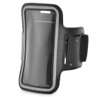 Sports Gym PU Leather Armband Case for HTC One X / M7 / Samsung S5 - Black
