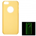 Ultra-Slim Matte Glow-in-the-Dark Plastic Back Case for IPHONE 5 - Yellow