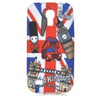 IKKI Stylish Graffiti Pattern TPU Back Case for Samsung Galaxy S4 mini i9190 - White + Blue + Red